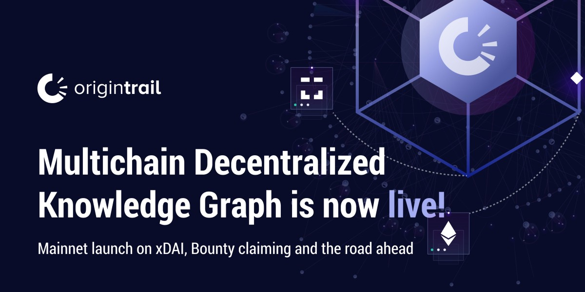 OriginTrail multichain Decentralized Knowledge Graph is now live: Mainnet launch on xDai, claiming…