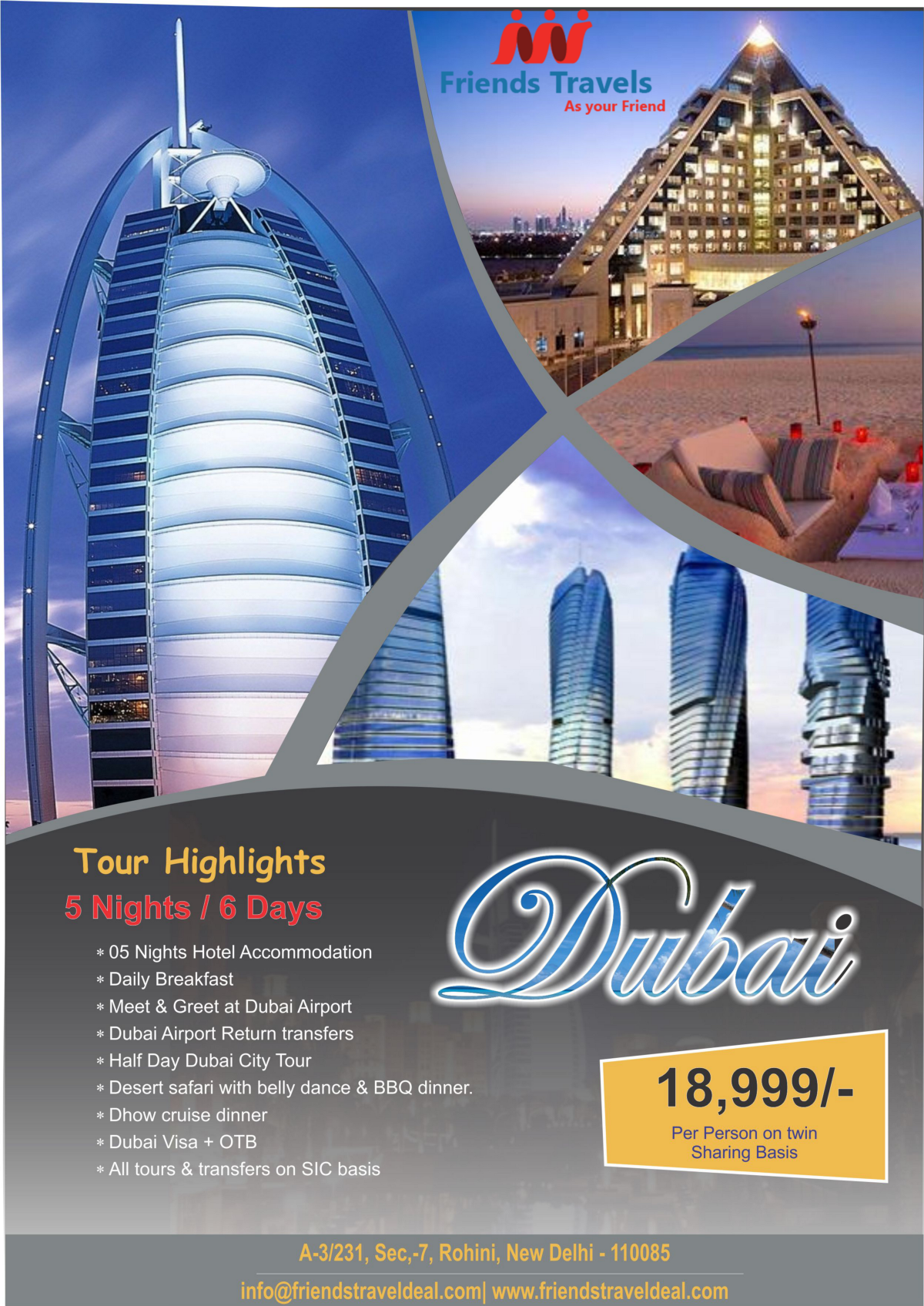 Book Dubai Tour Packages From Delhi Tour Packages From