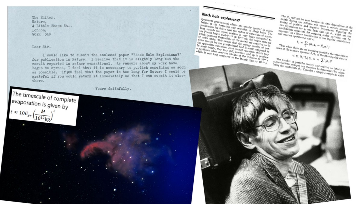 Hawking Radiation. How Stephen Hawking showed us nothing lasts forever