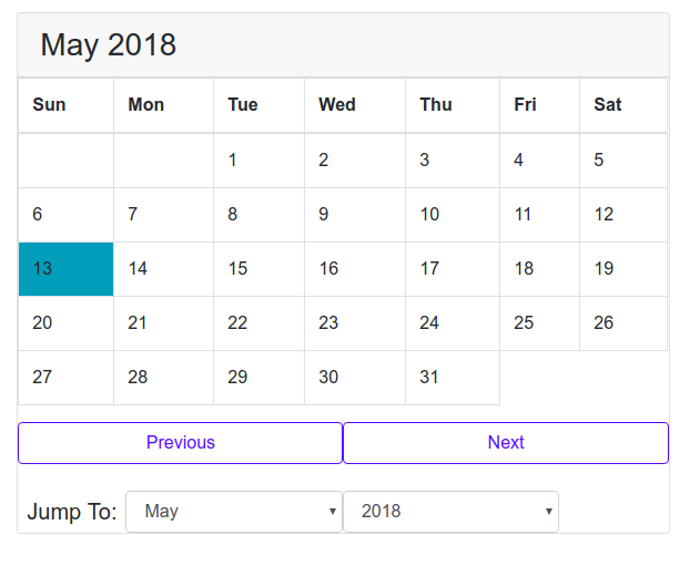 Challenge of building a Calendar with Pure JavaScript