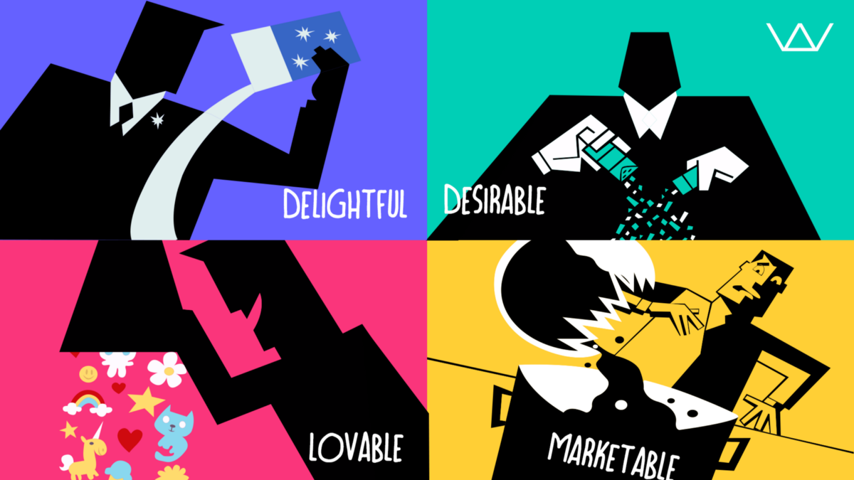 The secret to building an MVP that is desirable, marketable, delightful and lovable.