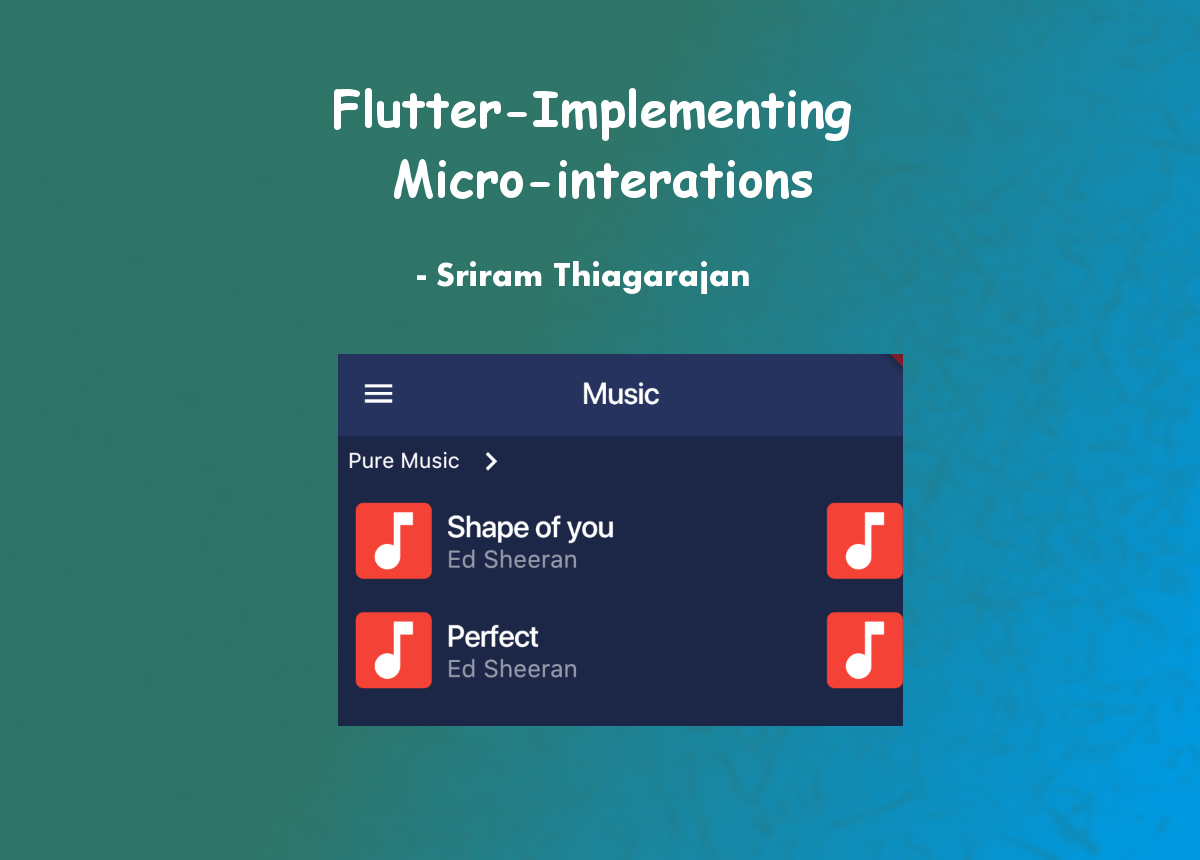 Flutter — Implementing Micro-interactions — Scrollable Horizontal