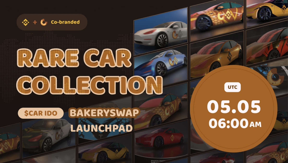 Introducing $CAR IDO—Blind Boxes of BAKE&BNB Co-branded Rare Car Collection