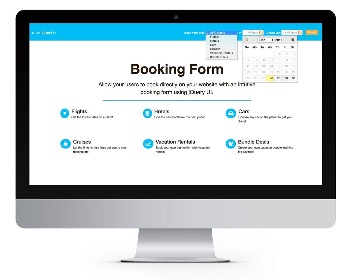 How to Create a Booking Form with jQuery UI