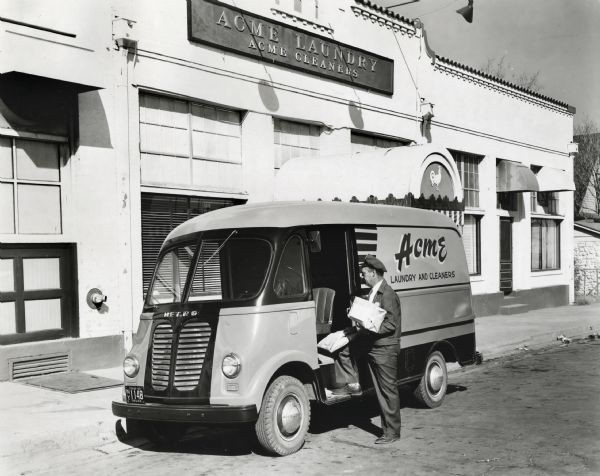 Old ACME Laundry truck, circa 1950. https://www.wisconsinhistory.org/Records/Image/IM65906