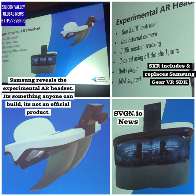Samsung reveals an experimental AR headset that isn't a Samsung product
