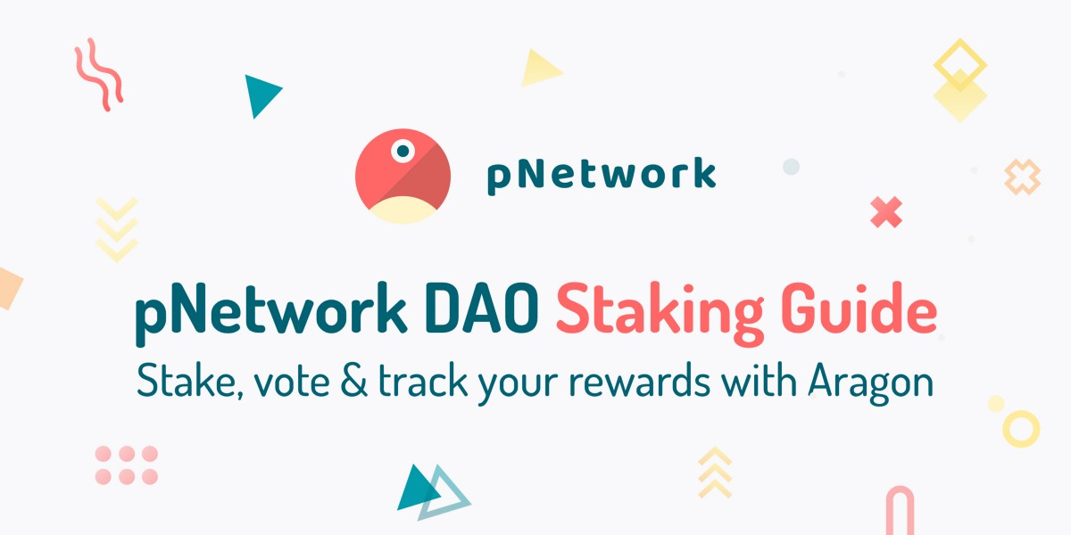 Stake in the pNetwork DAO