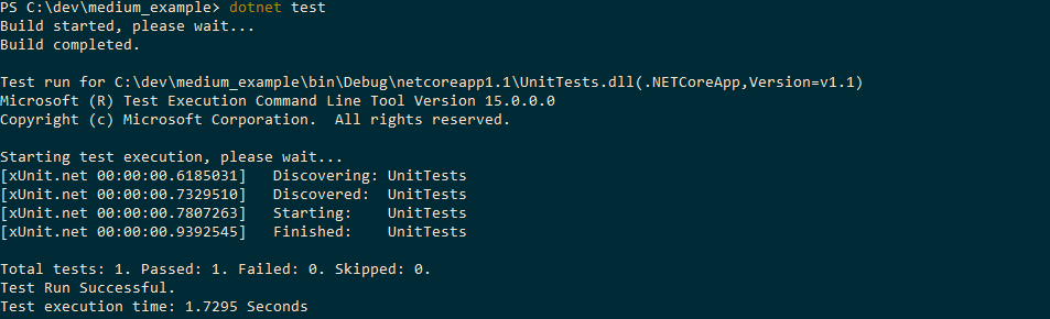Getting started with unit testing in  NET Core with xUnit and Docker
