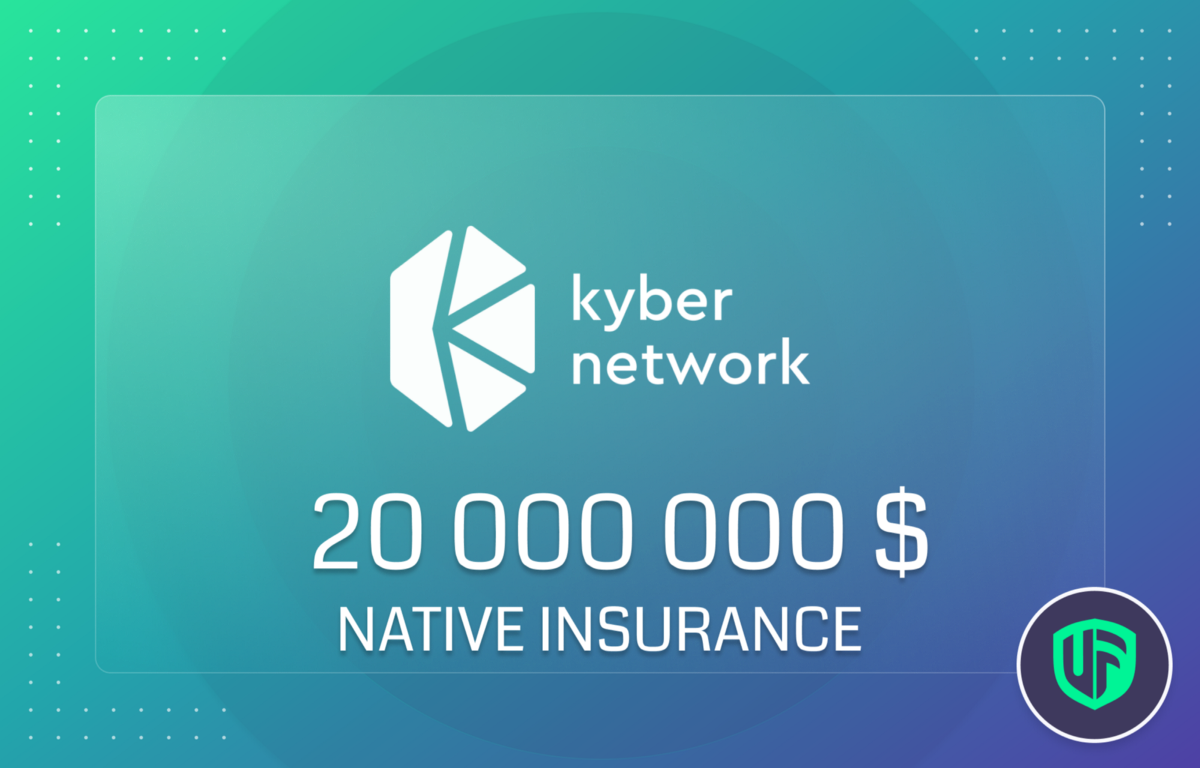 Kyber Network and Unslashed Finance partner over a $20m Native Insurance to protect Kyber Network…