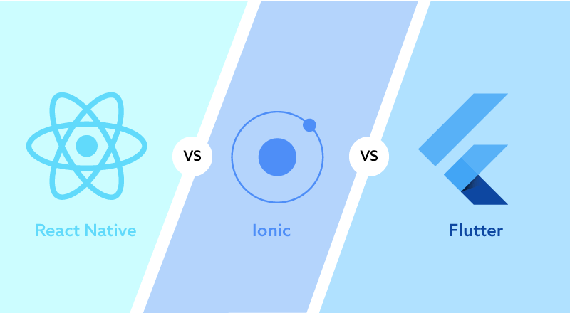 React Native vs  Ionic vs  Flutter: Comparison of Top Cross