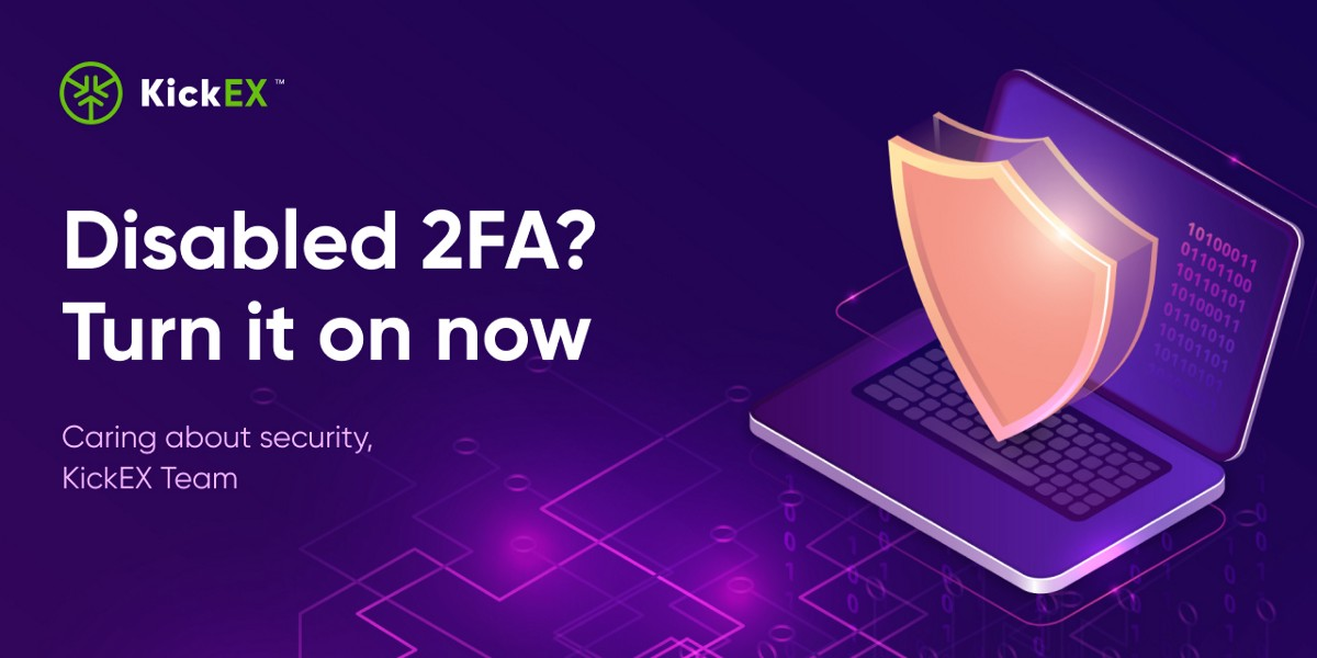 Disabled 2FA? Turn it on now