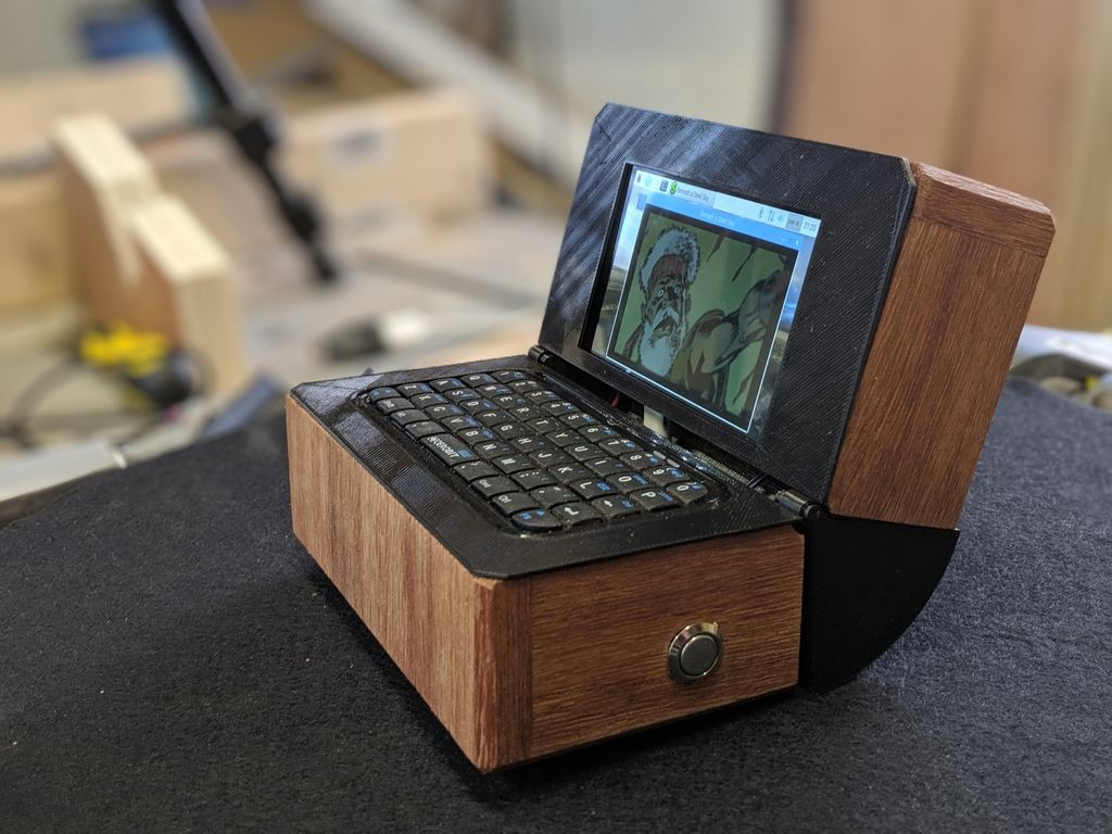This Tiny Raspberry Pi Laptop Is Handmade From Wood