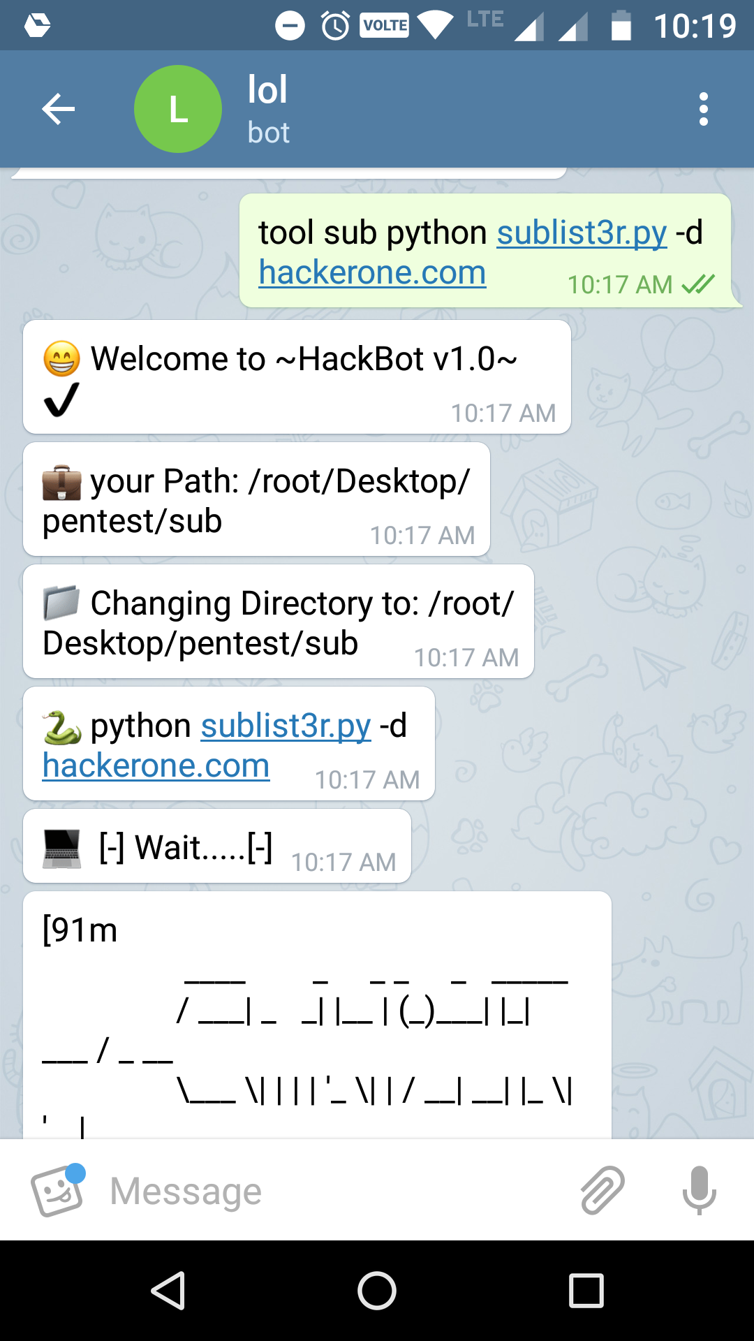 Telegram bot for Hacking & Pentesting - Arbaz Hussain - Medium