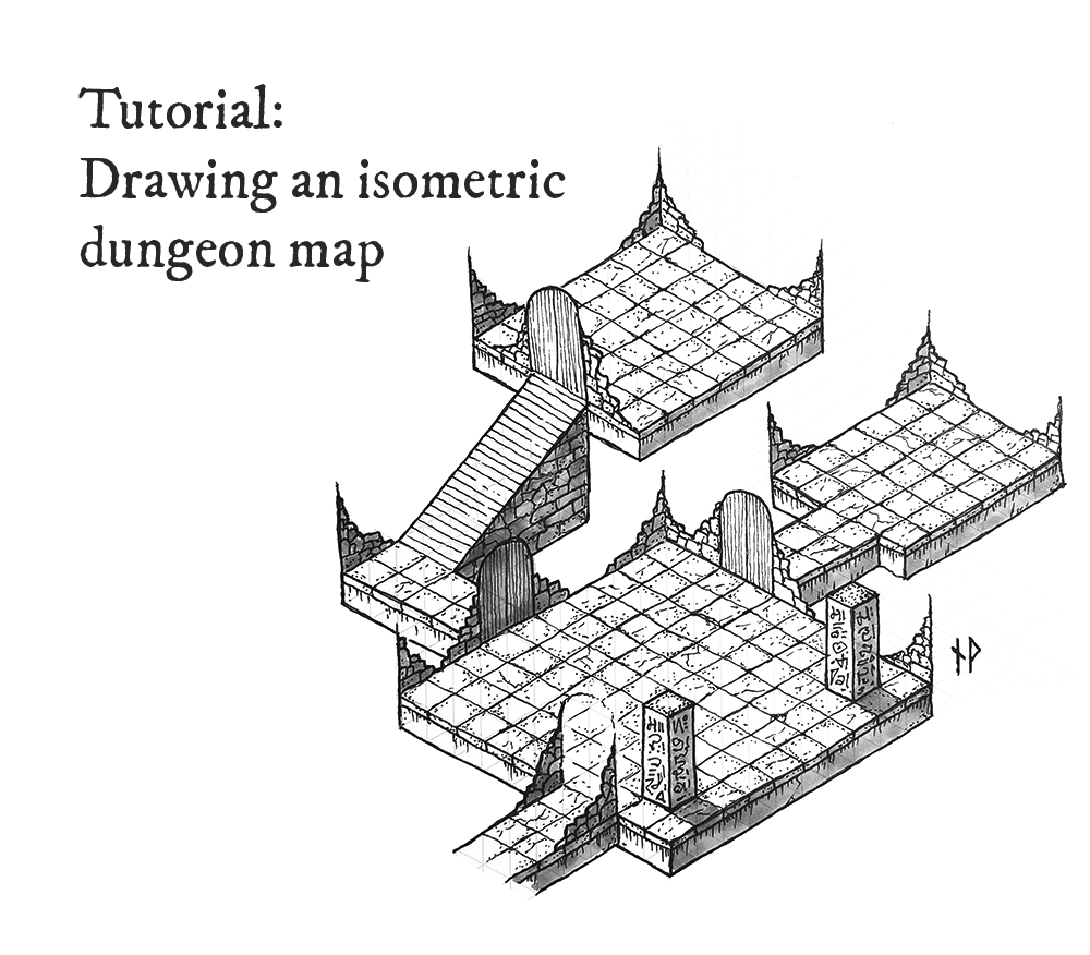 Tutorial: how to draw an isometric dungeon map - Niklas Wistedt - Medium