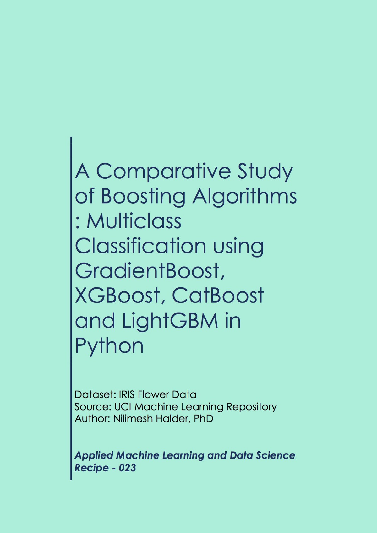 A Comparative Study of Boosting Algorithms: Multiclass