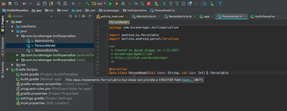 Yet Another Awesome Kotlin Feature: Parcelize - AndroidPub