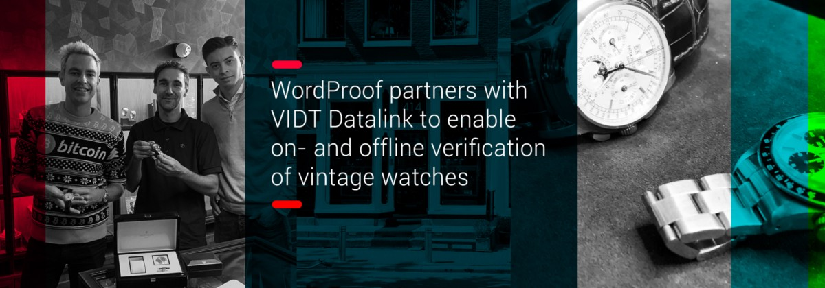 WordProof partners with VIDT Datalink to enable on- and offline verification of vintage watches
