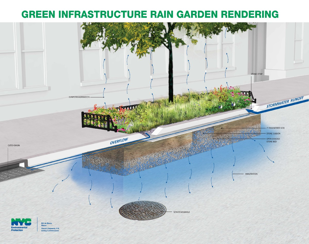 More Rain Gardens to Choose From - NYC Water - Medium Rain Garden Drawing Design Ideas on raised bed gardening design ideas, rain water garden ideas, greenhouse design ideas, landscape design ideas, rain garden construction, rain barrel design ideas, rain garden plans, downtown design ideas, rain garden installation, rain garden architecture, rain garden design diagrams, flower box design ideas, orchard design ideas, rain garden layout, rain gardening, permaculture design ideas, rain garden design templates, rain garden plants, rain garden design software, root cellar design ideas,
