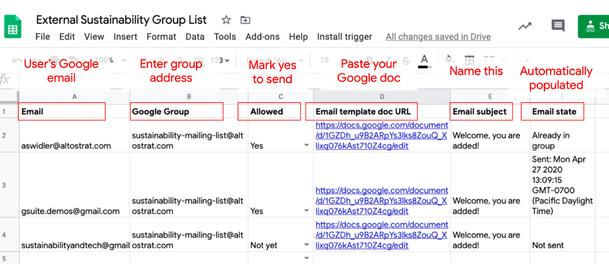 Grant Access To Resources From A Google Sheet In Google Workplace Formerly G Suite By Sustainability And Tech Medium