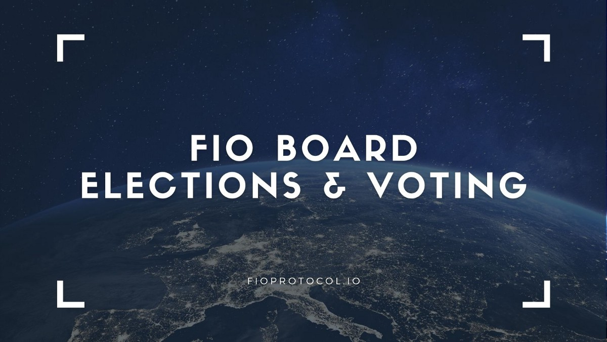 The FIO Foundation & Board Elections