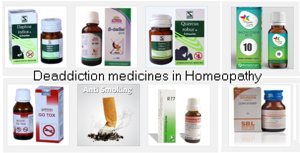 Deaddiction and homeopathy, How it works and recommended medicines
