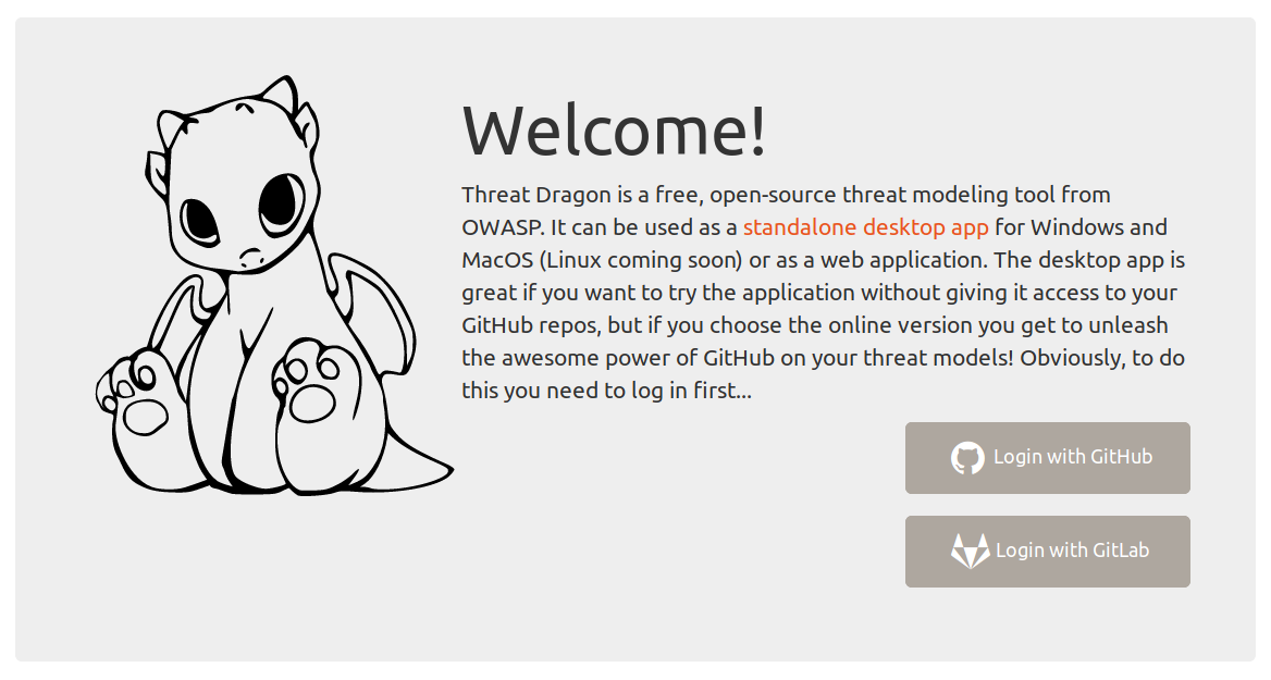 Now use OWASP Threat Dragon with Github, Gitlab or a self hosted Gitlab
