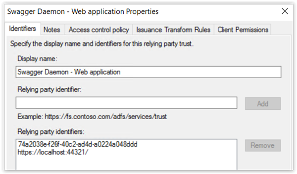 Using Swagger as a client for an ADFS protected API