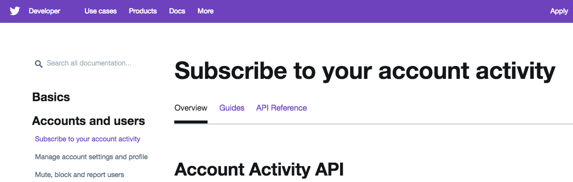 Getting Started with the Twitter Account Activity API (Beta)
