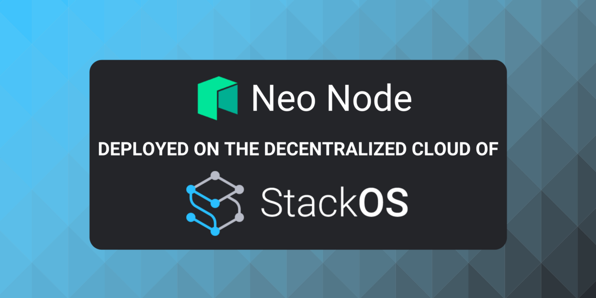 In Preparation For The Neo Hackathon, A Neo Node Has Successfully Been Deployed