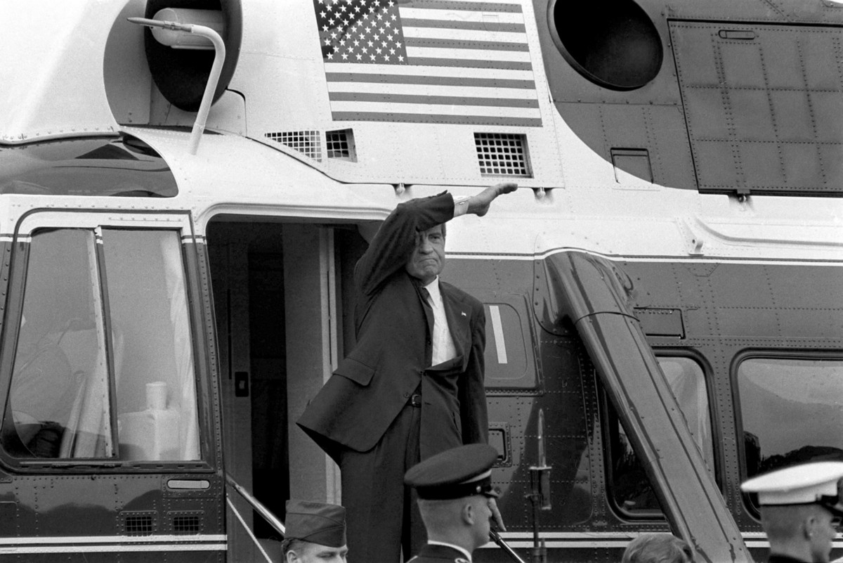 Here's what it looks like when a presidency falls apart, courtesy of Nixon's squalid final hours