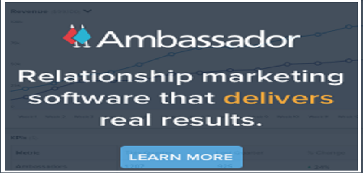 "Do you want to invite thousands of Referral Marketers to sell your products or services? If yes, Go for ""Ambassador""."