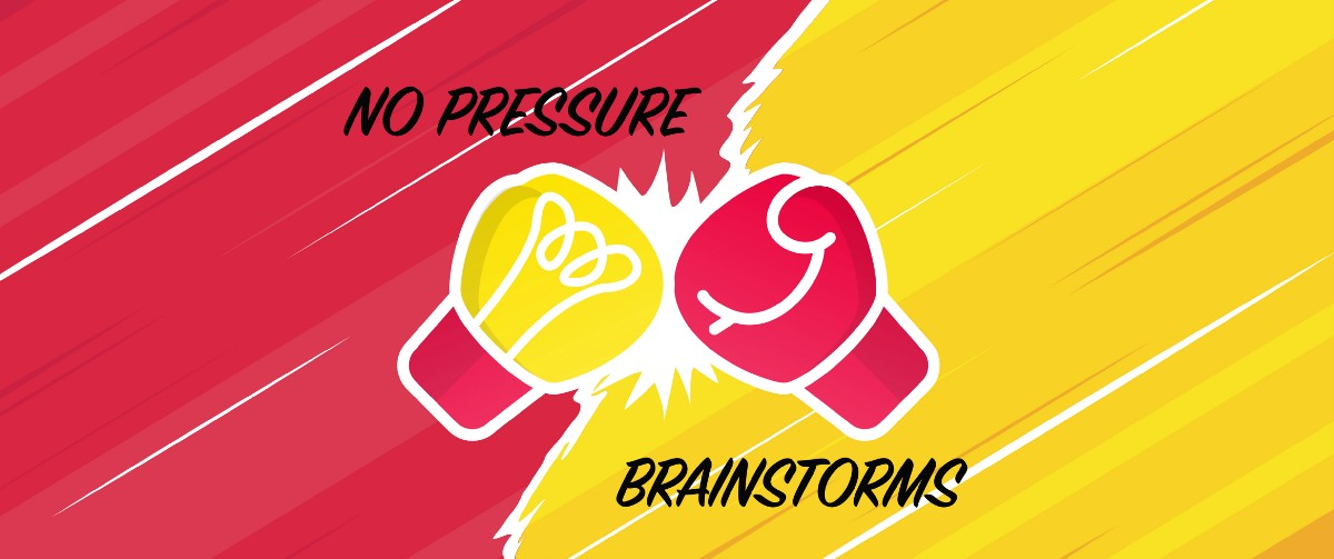 How to perform effective cross-team brainstorm sessions without any pressure