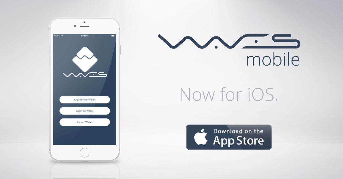 Waves wallet available from Apple Store - Waves Platform