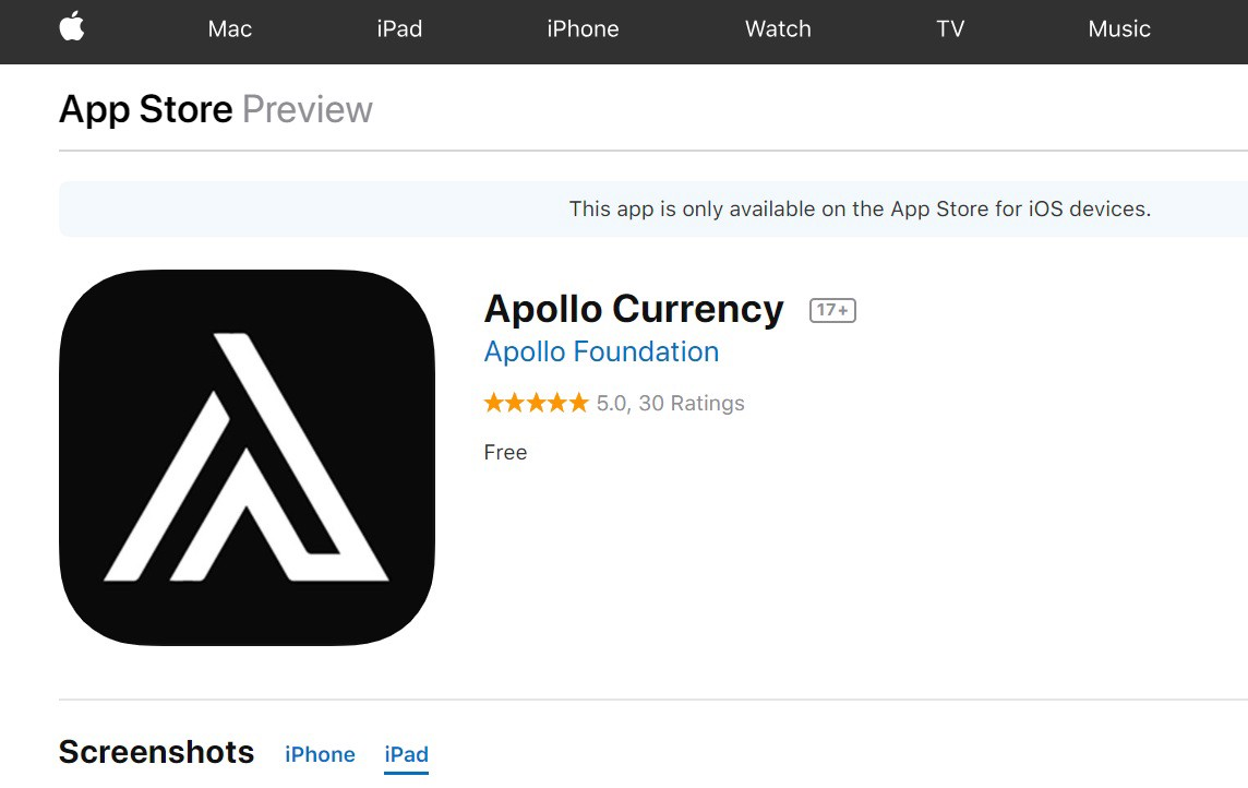 Apollo Now Available On Apple iOS - Apollo Foundation - Medium