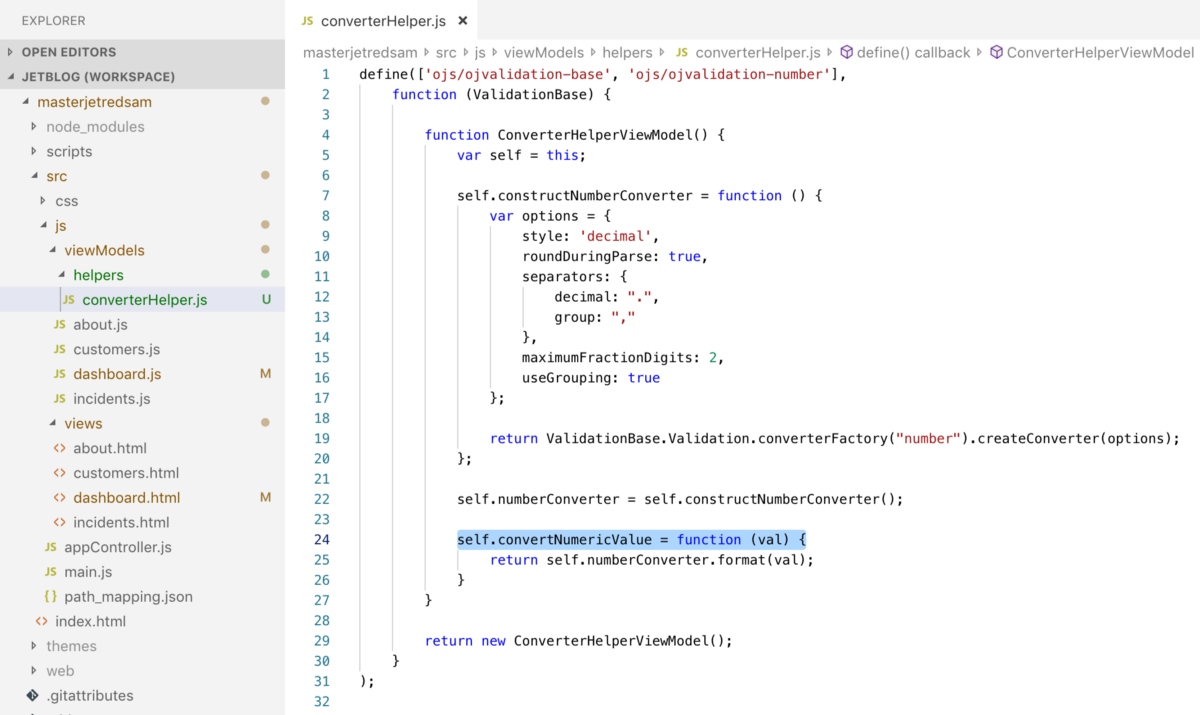 Oracle JET — How To Reference JavaScript Module in HTML