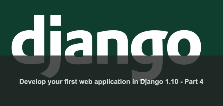 Develop your first web application in Django 1 10 — Part 4
