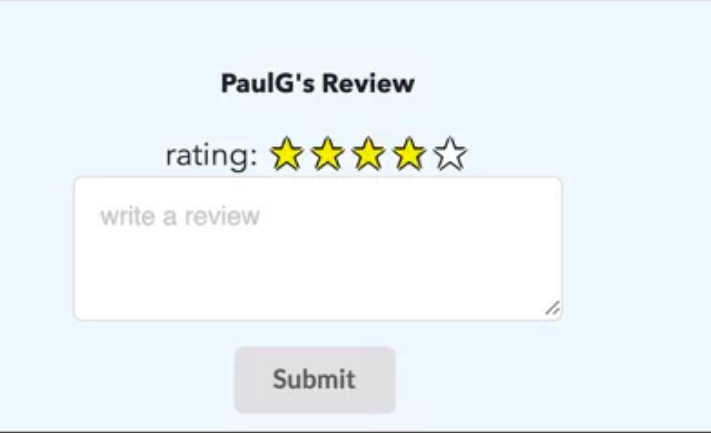 A simple star rating system using vanilla JS, CSS and HTML