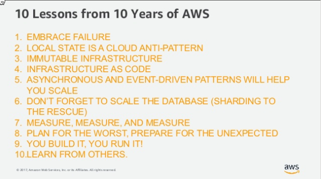 10 Lessons from 10 Years of AWS (part 1)