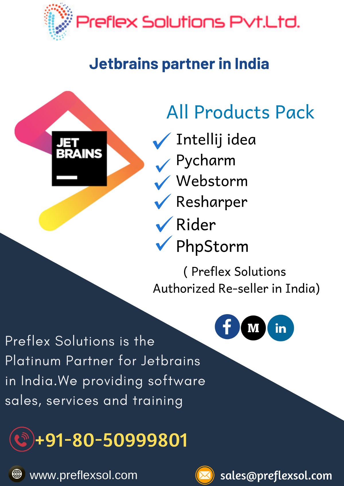 JetBrains products Reseller, Platinum partners in India