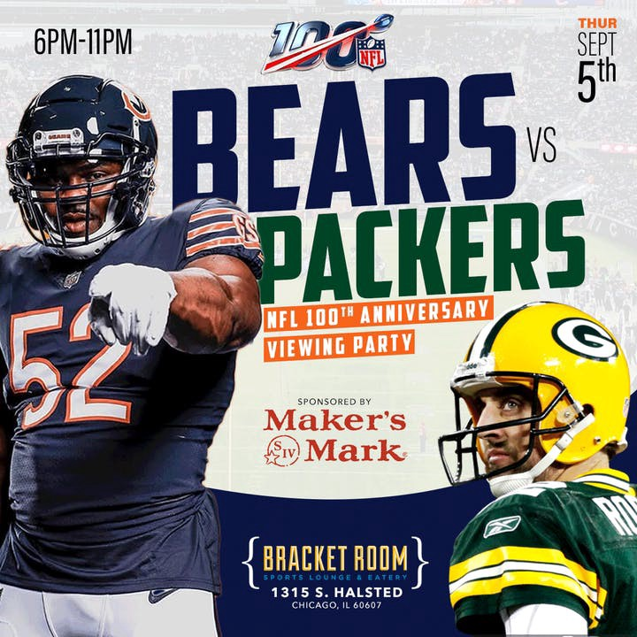 separation shoes 73f50 8ca57 CHICAGO BEARS vs GREEN BAY PACKERS: THE NFL'S 100TH YEAR ...