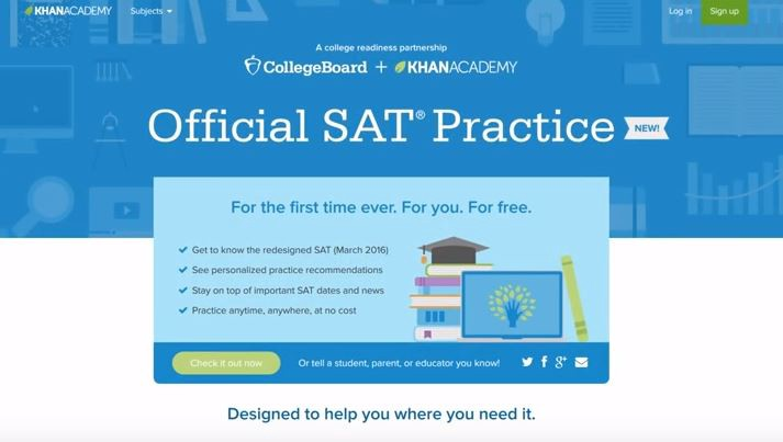 Help students increase SAT scores by using Khan Academy