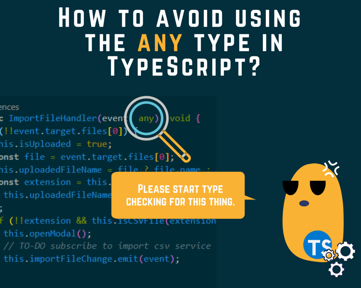 How to Avoid using the any type in TypeScript