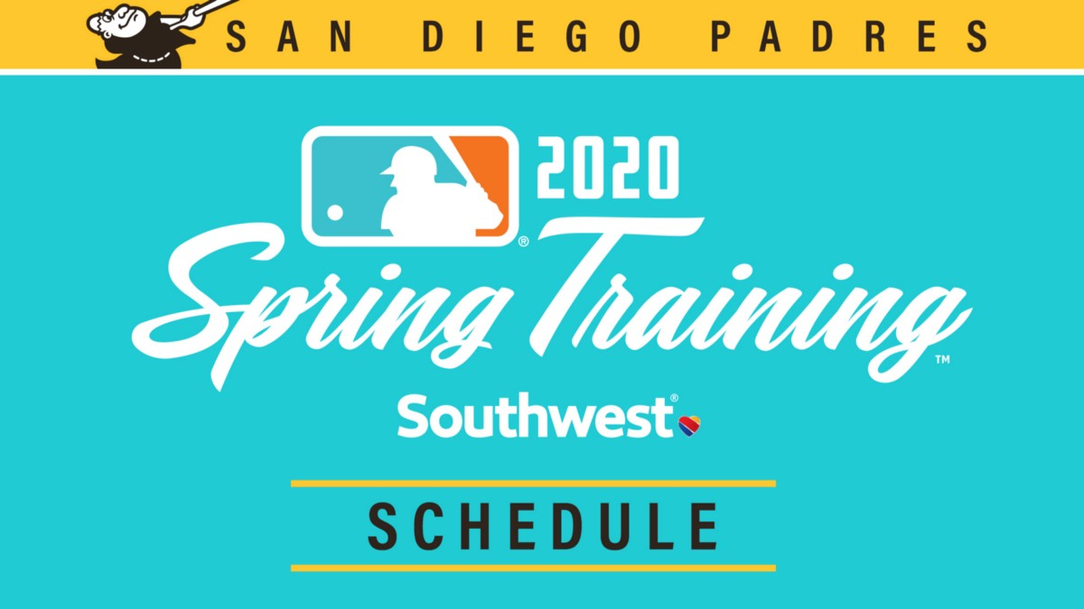 Padres Announce 2020 Spring Training Schedule