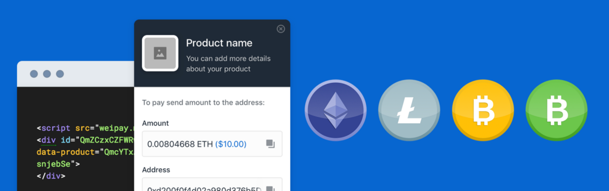 How to Accept Cryptocurrency on your Website with Coinbase Commerce