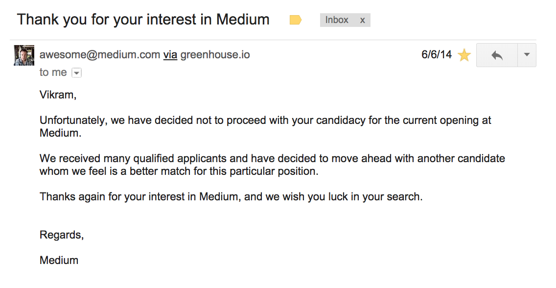 A Year Ago Today I Got a Rejection Letter from Medium