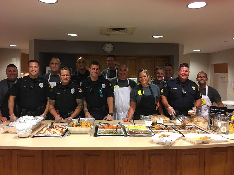 Monroe Township Police Department volunteers at Ronald