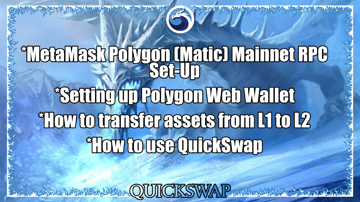How to Set Up Polygon (Matic) Mainnet for MetaMask & Transfer Assets from L1 to L2 to use…