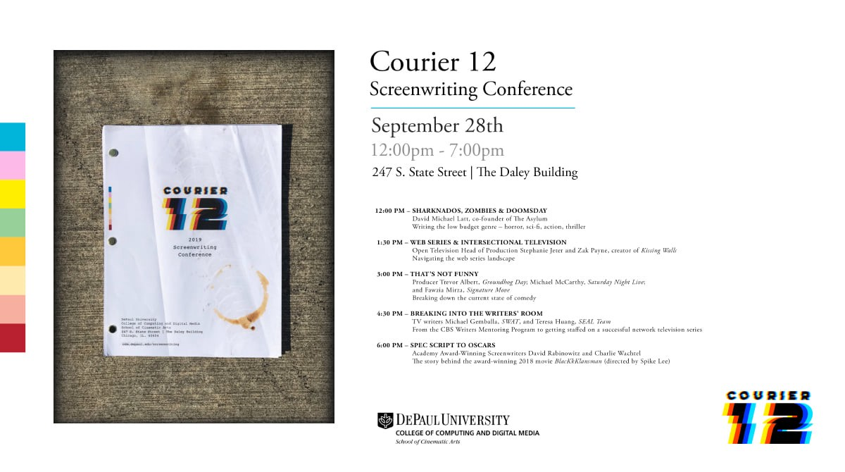 Courier 12 Screenwriting Conference - Go Into The Story