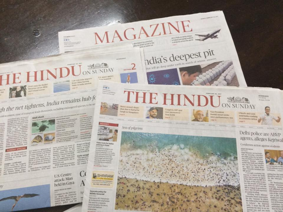 The Hindu on Sunday is great - Tejah Balantrapu - Medium