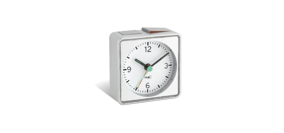 sleep well and recover better — with an analog alarm clock (the be